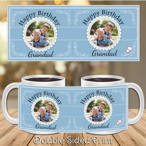 Personalised Happy Birthday PHOTO Mug N33 - Any Text / Name